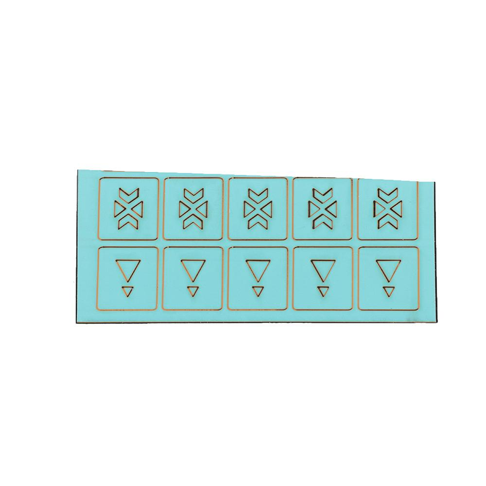 hollow nail art stencil set guide template stickers manicure tool