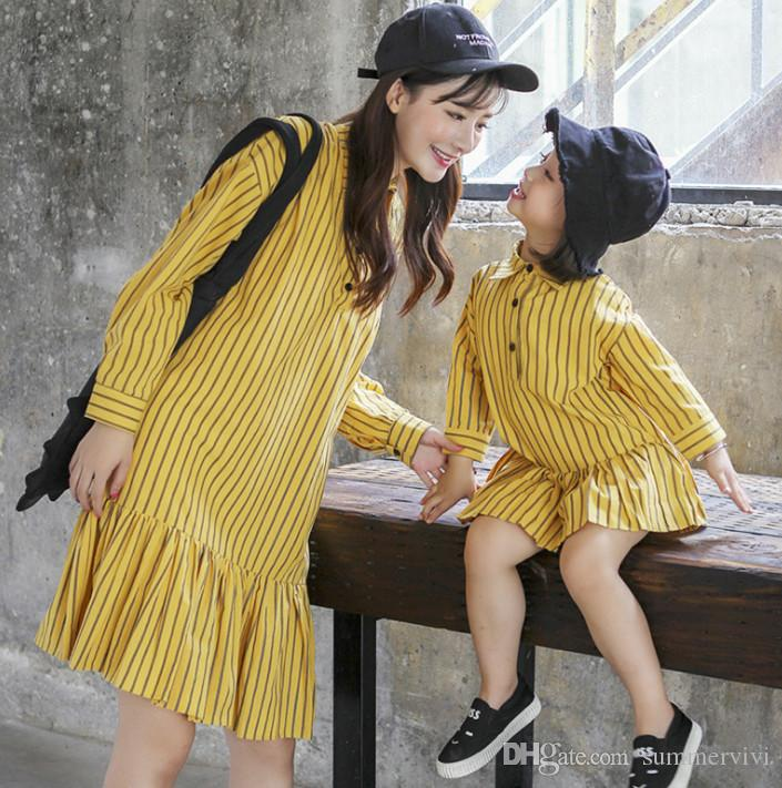 99f3738c763d Mother And Daughter Matching Outfit Girls Stripe Falbala Princess ...