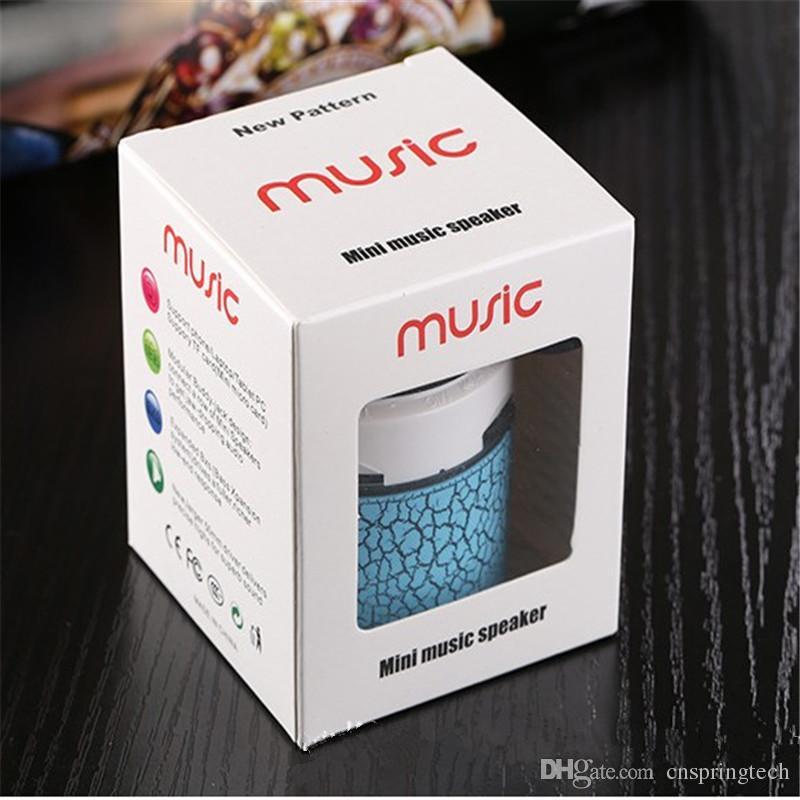 Mini-Lautsprecher Bluetooth-Lautsprecher LED farbige Flash A9S10 Wireless Stereo FM-Radio TF Karte USB für iPhone Samsung Lautsprecher mit Kleinpaket
