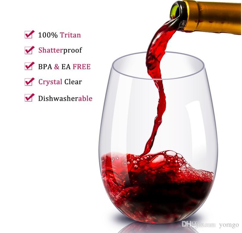 2019 Premium Unbreakable Stemless Wine Glasses Set Shatterproof