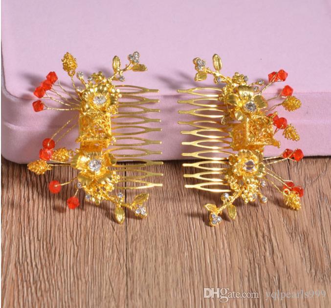 Yeni stil kostüm, gelin şapkaya, Çin saç aksesuarları, düğün kırmızı süsler, elbise, ejderha, Phoenix ve elbisesi aksesuarları.