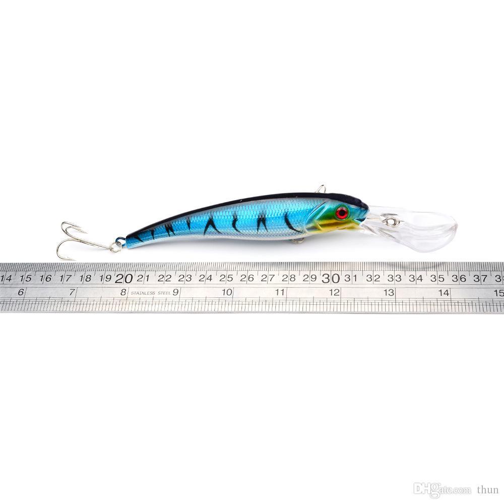 80 ADET Büyük Deniz Balıkçılık Lures Minnow Crankbait Bas Yem Jerkbait 17 cm 28.7g