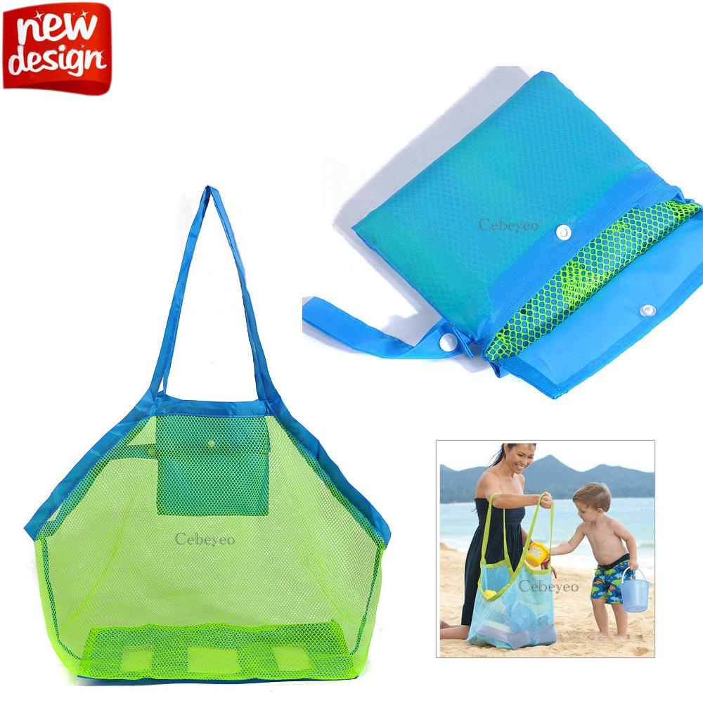 Shopping Bags High Quality Toy Tool Collection Pouch Tote Mesh Bag Mom Baby Kids Beach Bag Children Kids Portable Bag Beach Shell Shopping Bag