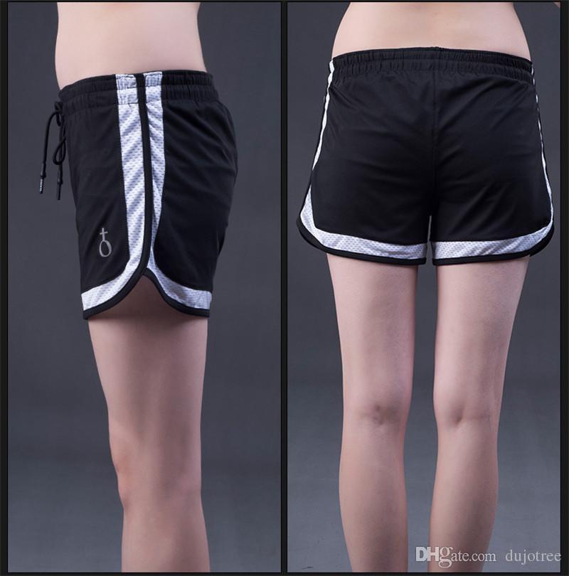 e50f856fd1 Compre 2018 Mulheres Esportes Yoga Shorts Treino De Fitness Correndo  Esporte Calções De Cintura Alta Ginásio Ciclismo Esporte Curto Feminino  Plus Size ...