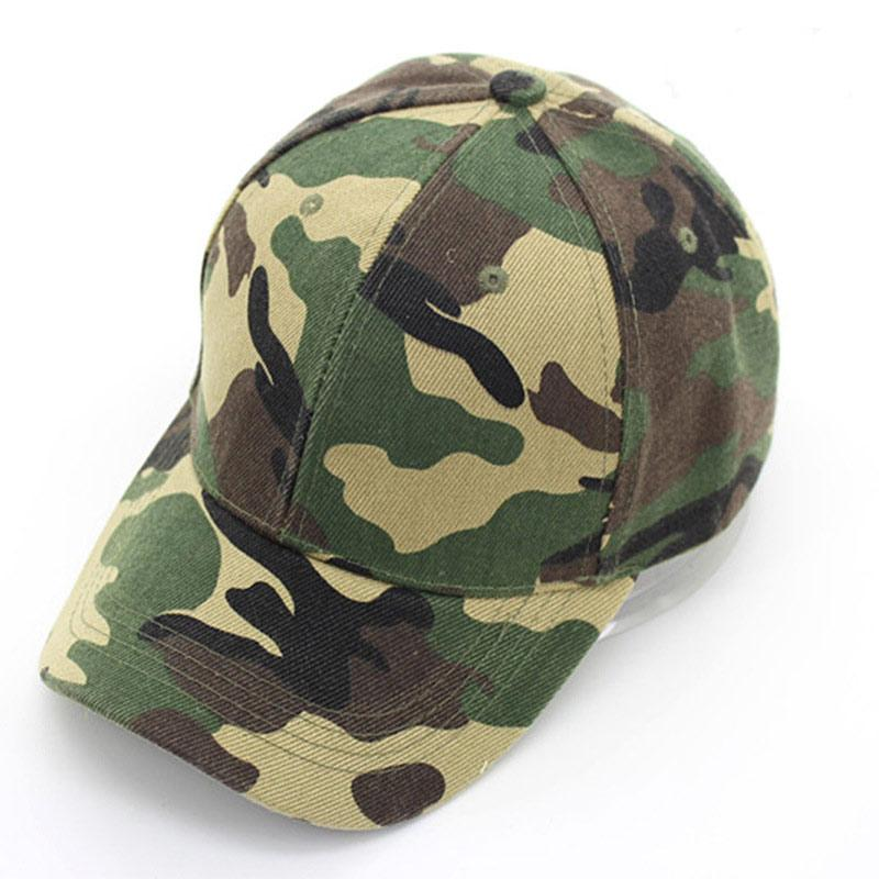 Adjustable Size Head Circumference 56-59cm Men's Army Green Camoflage Baseball Caps Camping Outdoor Sports Headwear