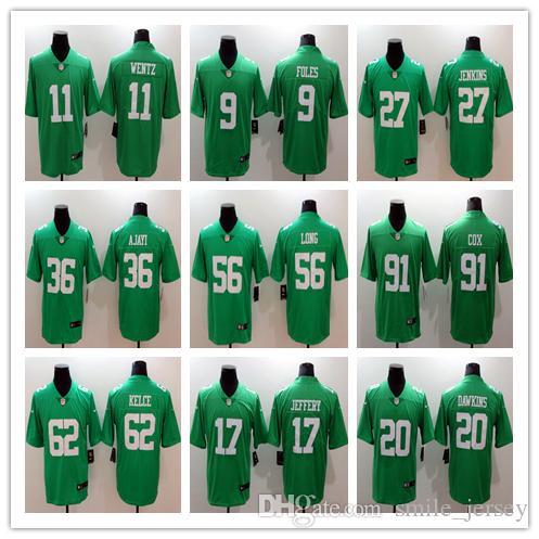 Mens Philadelphia Eagles Football Jersey 9 Foles 11 Wentz 86 Ertz 17 ... 0c241f37a