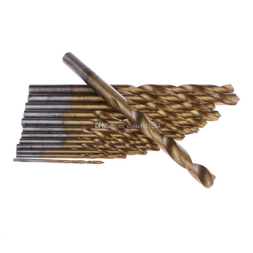 HSS Metric System Durable Titanium Quick Change Twist Drill Bits Set Tools Drilling With Butterfly Case