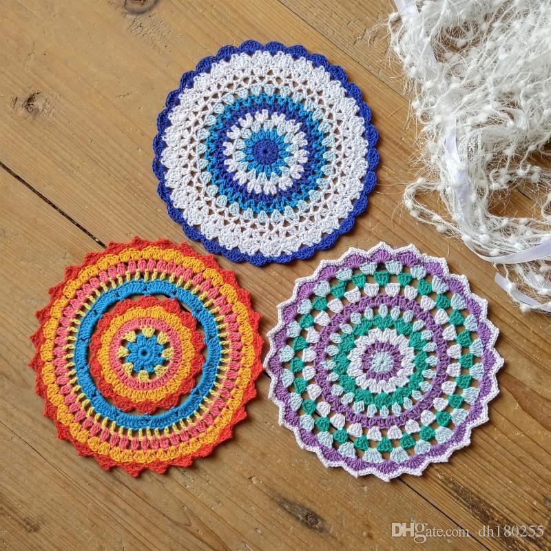 2019 Of 3 Design Red Lace Doily Diy Crochet Mandala Pattern