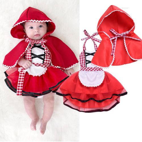 Compre Bebê Menina Halloween Chapeuzinho Vermelho Conjunto De Roupas  Meninas Do Bebê Tulle Tutu Vestido De Renda Fancy Dress + Cape Manto  Outfits Roupas De ... ee94cfb5c9c
