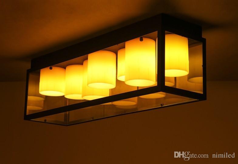 Acquista lampade a soffitto in ferro battuto vintage lampada da