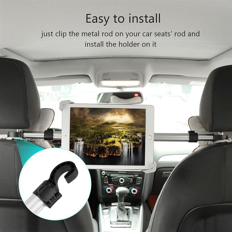 Universal 360 Degree Rotation Aluminum Car Seat Tablet Holder Mount