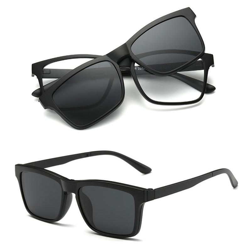 f2db549238 Eyeglass Frames With Clip On Polarized Sunglasses Men Eyeglass Magnetic  Clip Sunglasses Women Sun Glasses Flip Prescription Sport Sunglasses  Prescription ...