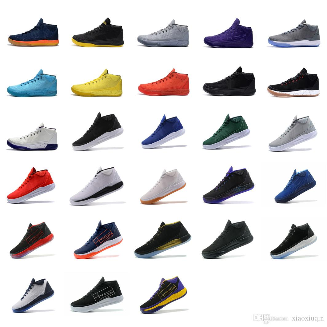 new style a62b6 a3484 Cheap Mens Kobe Ad Mid Nxt 12 Basketball Shoes For Sale Blue Black Red Grey Gold  New Colors KB XII Elite Generation Sneakers Tennis With Box NZ 2019 From ...
