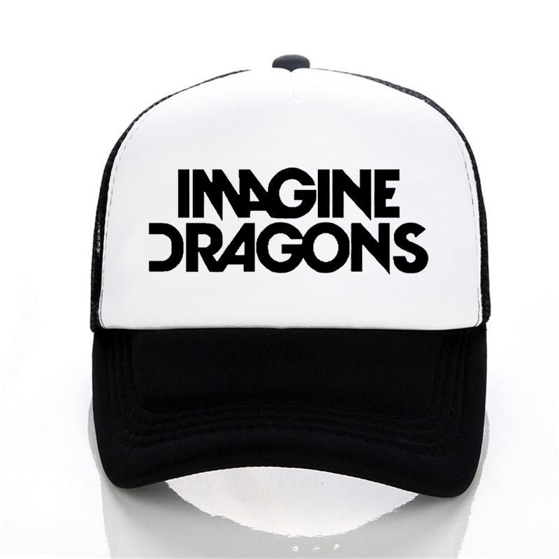 Acquista Imagine Dragons Rock Band Berretti Da Baseball American Indie Rock  Band Berretto Da Uomo Summer Mesh Cappello Lettera Stampa Snapback Cappelli  A ... 0adf95c1574b