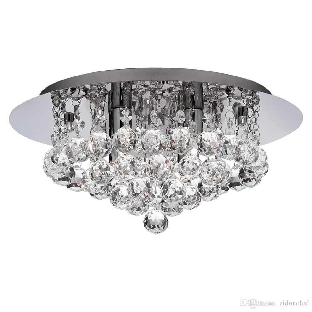 New modern round crystal ceiling light fixtures k9 crystal rain dorp for living room bedroom lighting fixtures dia40h25cm ceiling chandelier discount