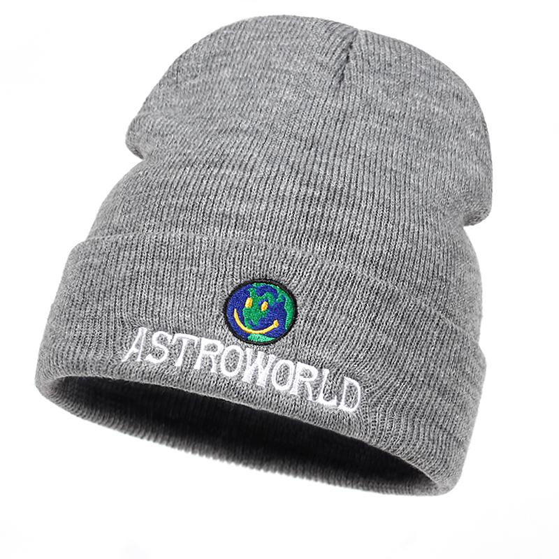 0ba07b32dfe 2019 2018 New Travi  Scott Beanie ASTROWORLD Knit Cap Embroidery Astroworld  Ski Warm Winter Unisex Travis Scott Ski Skullies   Beanie From Hcaihong