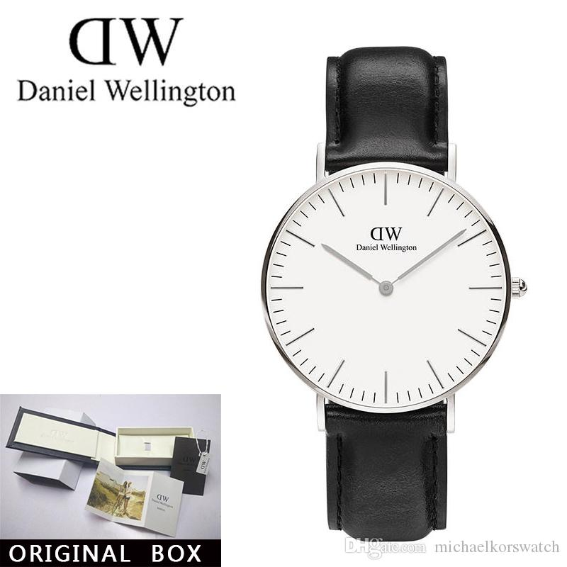 90bad7bc20f4d 2019 Famous Brand Danie Women Mens Wellington WATCHes Fashion Nylon Strap  Style 36mm Silver Ladies Watches With Gift Box Relojes Bracelet Buy Cheap  Watches ...