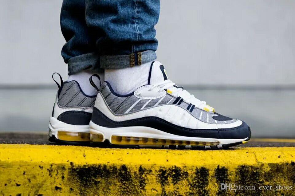 deals online sneakernews cheap online New White Blue Yellow Air OG 98 Gundam designer Running Shoes Mens 98s Black Red Navy zapatos trainers Sports Sneakers UK 6-11 100% guaranteed 2014 newest cheap price wide range of cheap price RTckq9R