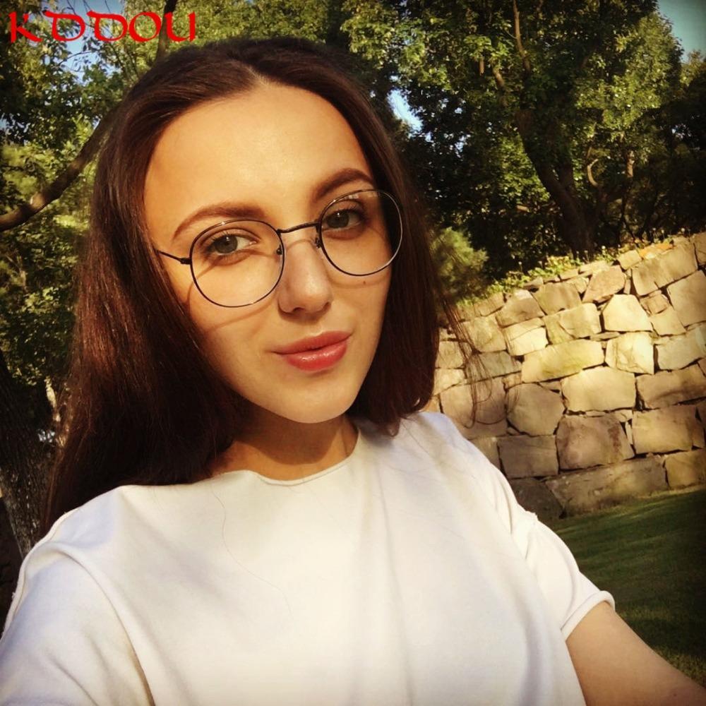 bff5afeef9 Compre KDDOU Gafas Redondas Montura De Metal Retro Gafas Gafas Monturas De Gafas  Para Mujer Gafas De Ordenador Ucrania Mujeres Nerd Gafas A $37.2 Del ...