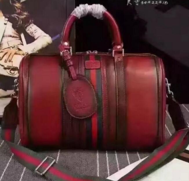 75393159ddd3 387605 REAL LEATHER ORIGINAL RED HANDBAG MS TRAVEL BAG Hobo HANDBAGS TOP  HANDLES BOSTON CROSS BODY MESSENGER SHOULDER BAGS Handbags Purses From ...