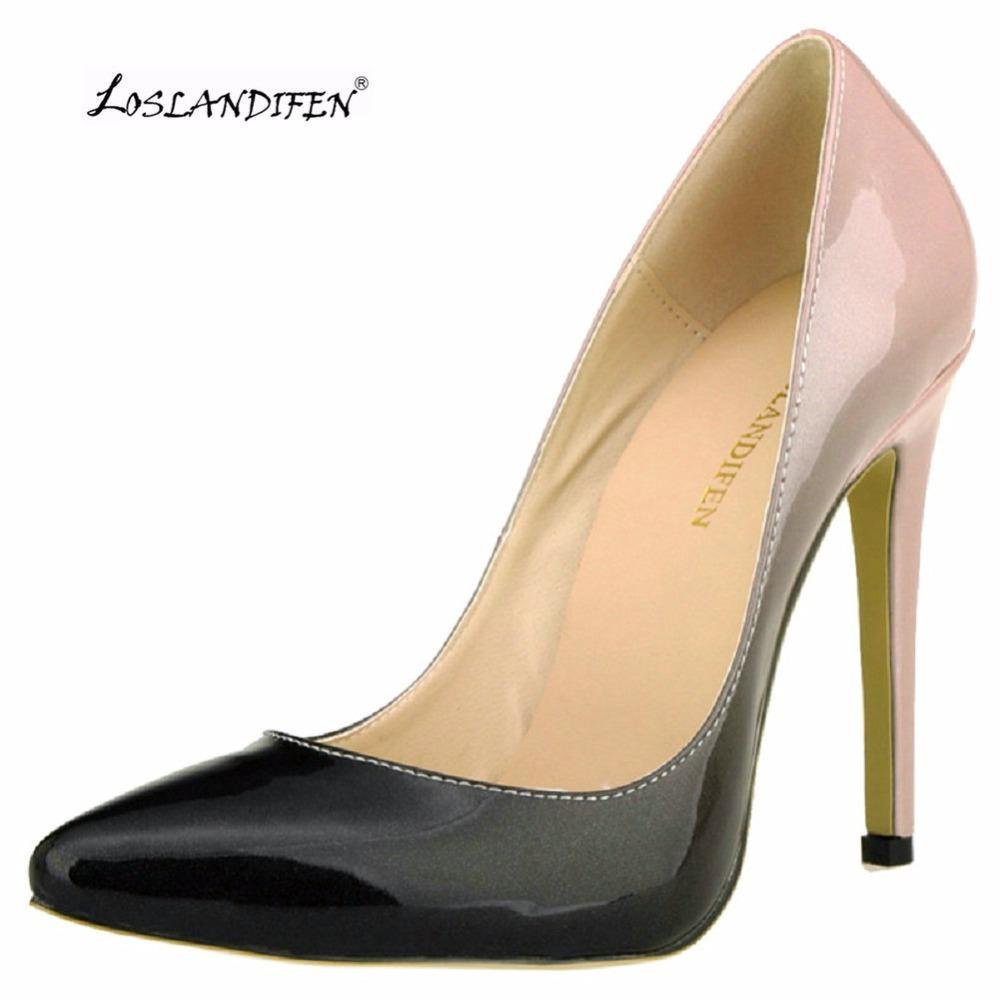ae1493d80d95 Wholesale Women Pumps Fashion Leather Pointed Toe 11cm High Heels Shoes  Woman Red Bottom Dress Wedding Shoes Ladies Pumps302 1 Wedges Shoes White  Shoes From ...