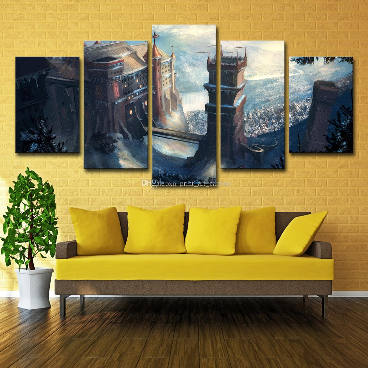2018 Canvas Wall Art Modular Abstract Pictures Hd Printed Tv Play ...