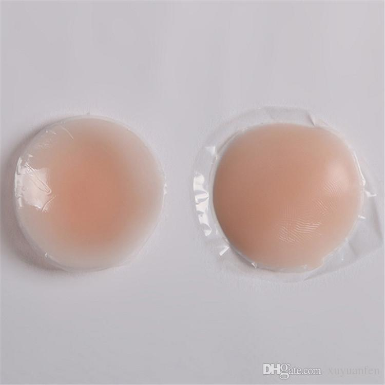 Las mujeres reutilizables adhesivo autoadhesivo silicona Pecho pegatina Pezón cubierta sujetador Pasties Pad Petal Mat pegatinas