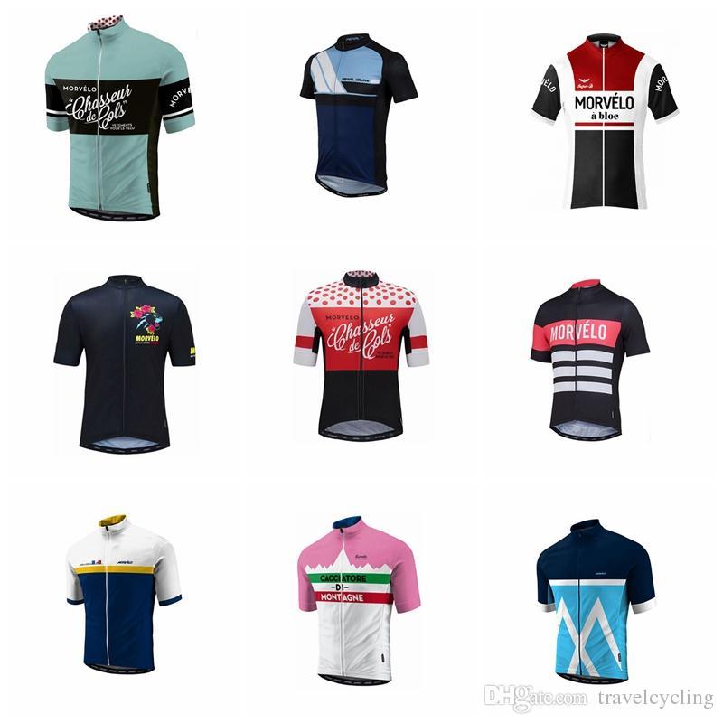 f5a82a02bb 2018 Morvelo Jersey De Ciclismo Ropa De Verano Transpirable De Verano Ropa  Deportiva Al Aire Libre Camisetas De Carreras De Manga Corta De Secado  Rápido ...