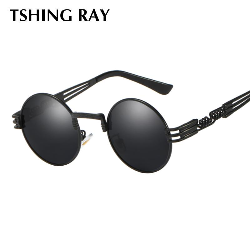 6b81225ebf7 TSHING RAY Russell Gothic Men Steampunk Sunglasses Women Metal Wrap  Eyeglasses Sun Glasses Mirror Male Eye Glasses Round Shades Wiley X Sunglasses  Mirror ...