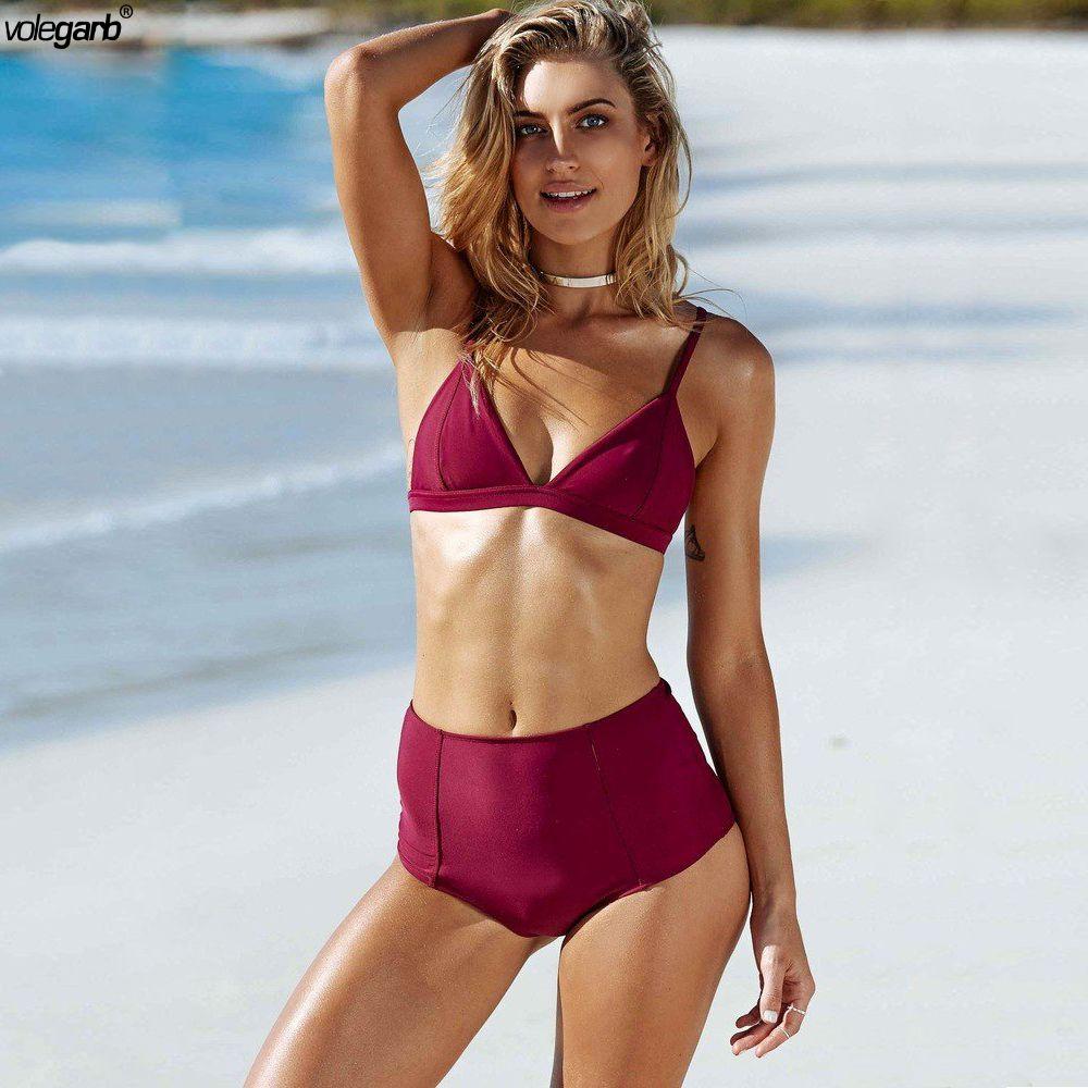 22bc701583f Wholesale Sexy High Waist Bikini Set Swimwear Women Swimsuit Push Up 2018  Womens Bikini Halter Top Bathing Suit Beachwear Biquini Online with  47.21  Piece ...