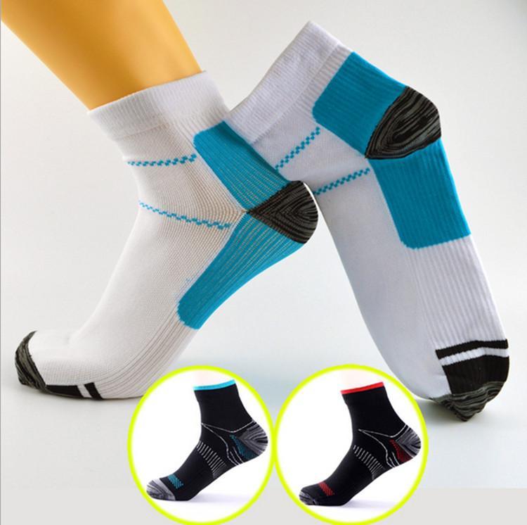 0115ae02e5f Compression Socks Men Women Sports Running Anti Fatigue Anklet Short Sock  Plantar Fasciitis Heel Spurs Pain Unisex Sport Outdoor Stocking Free Socks  Quality ...