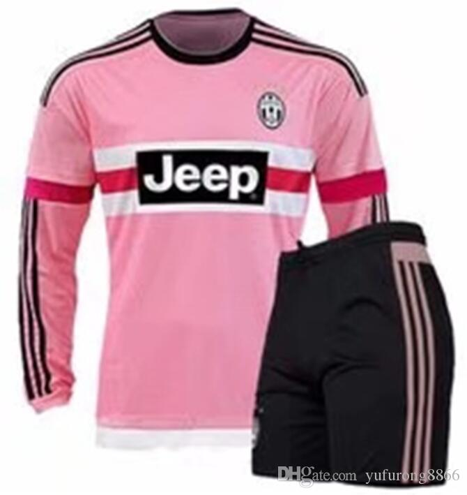 8e470780f 2016 Long Sleeve Italy JUVENTUS Pink POGBA SOCCER JERSEYS Kit 15 16 DYBALA  MANEZUKIC MORATA HIGUAIN MARCHISIO BUFFON Pink MEN FOOBALL SHIRT Canada  2019 From ...