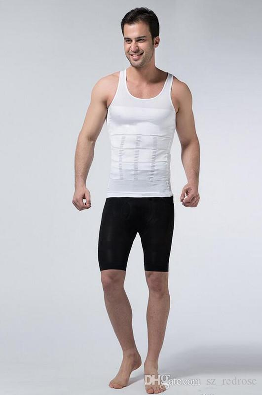 3a5a5e035f1 Mens Slim   Lift Corset Shaper Shirt Slimming Tummy Body Shaper Belly Fatty Body  Girdle Invisible Design Underwear Vest Online with  7.02 Piece on ...