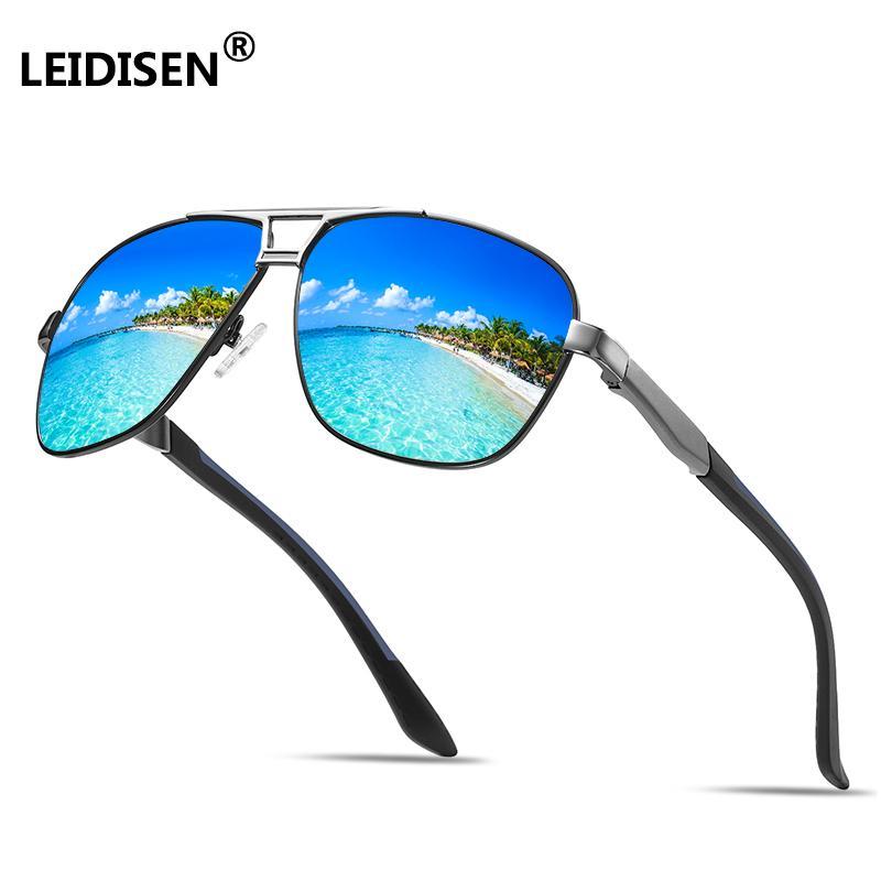 e61e04717cf Leidisen Brand Men s Vintage Square Sunglasses Polarized Uv400 Lens Eyewear  Accessories Male Sun Glasses For Men Wiley X Sunglasses Mirror Sunglasses  From ...