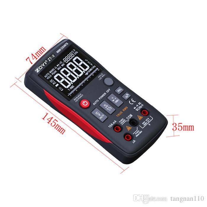ZOYI Multimetro digitale misuratore elettrico ZT-X 9999COUNTS Contatore a tre display ad alta definizione con barra analogica