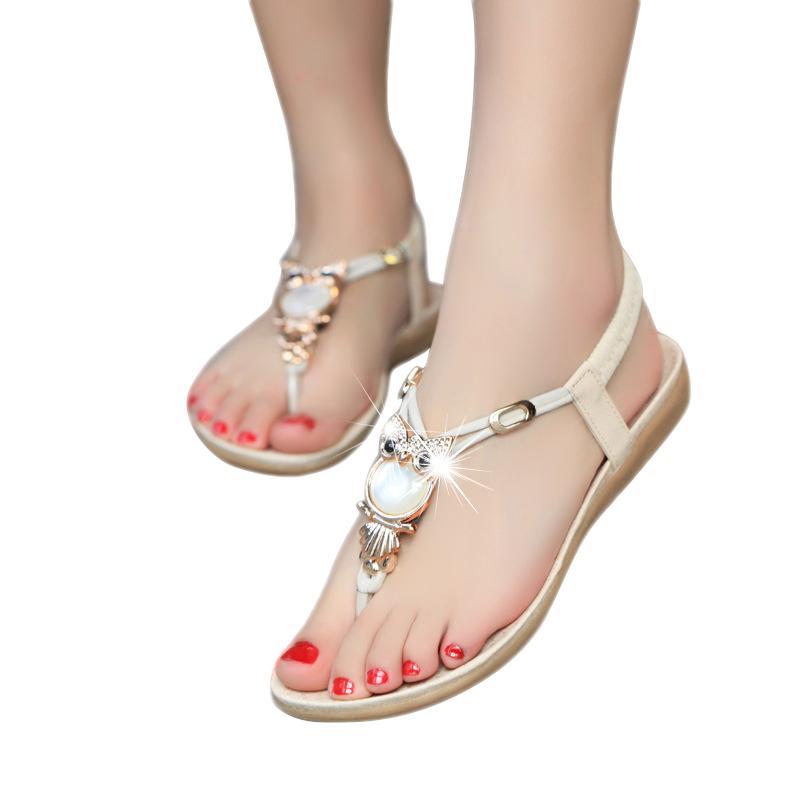 8388e41815045 New Summer Shoes Women Fashion Sweet Flat Women Sandals Bohemia Beach Flip  Flops Soft Casual Female Sandals Shoes Mujer BT143 Flat Sandals Strappy  Sandals ...