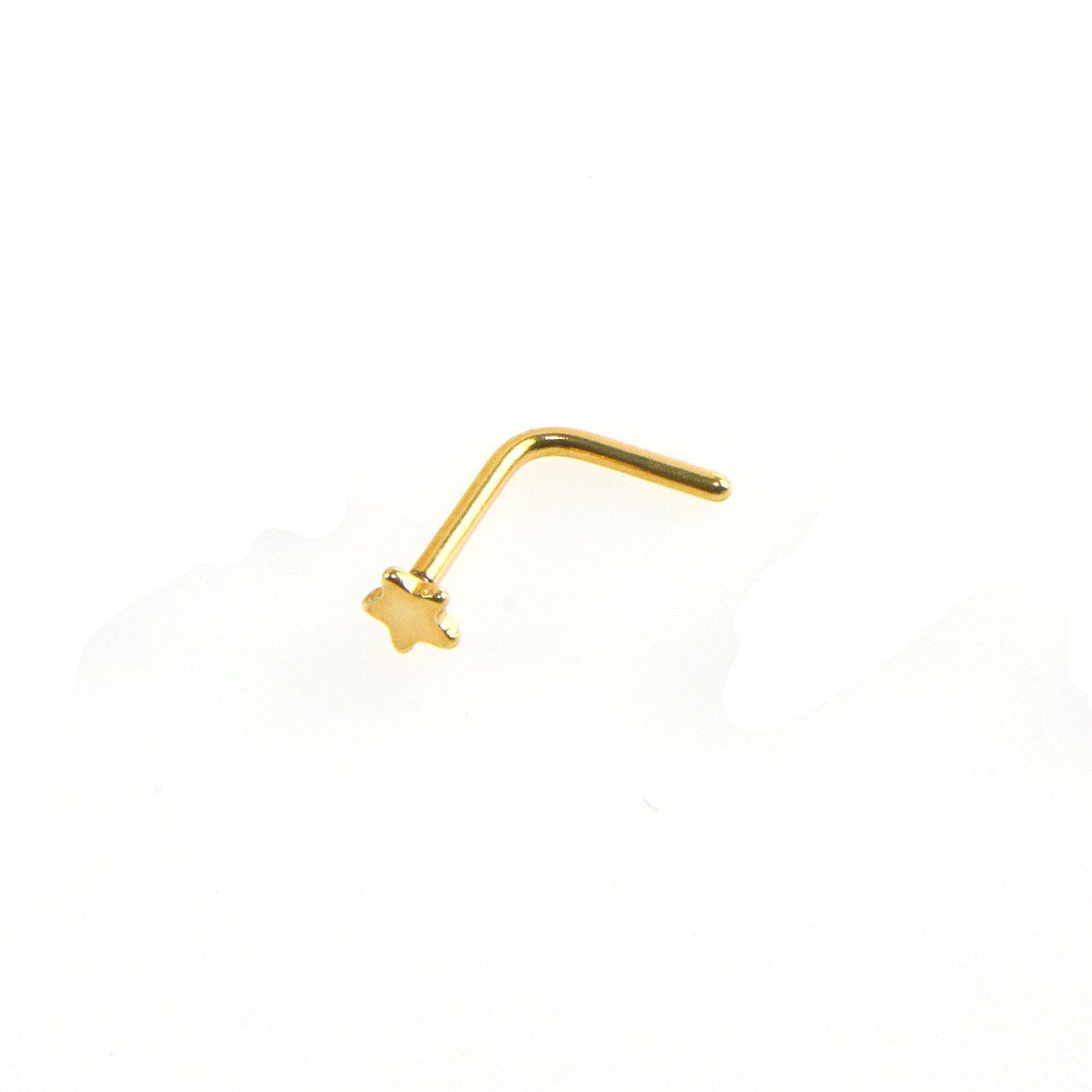 Yıldız paslanmaz çelik burun piercing
