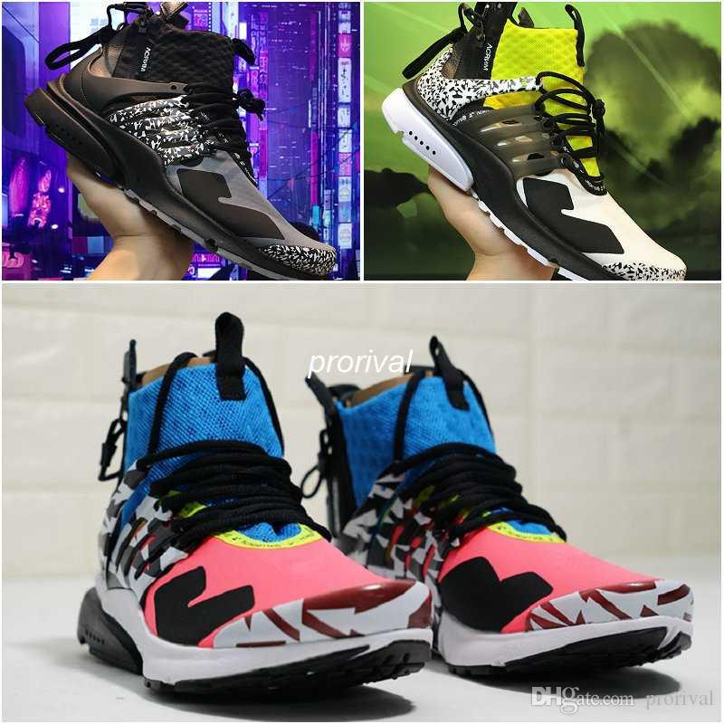 46d03115c665 2018 Famous ACRONYM® X Air Presto Mid Running Shoes Dynamic Yellow ...