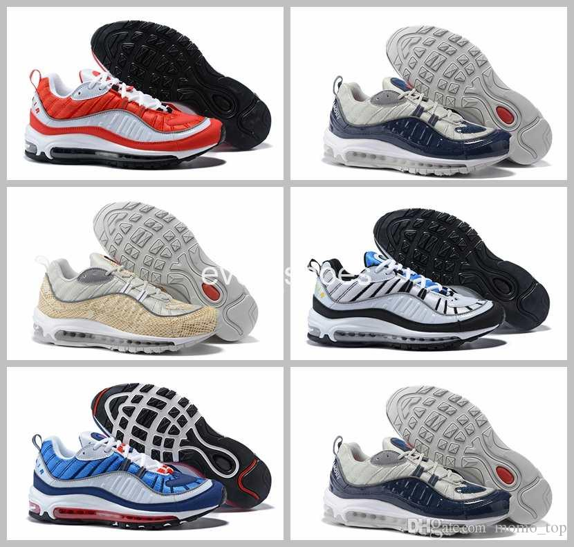 wide range of cheap online looking for online 2018 New Arrival Fashion 98 Gundam Sports Casual shoes for High quality Men's 98s White Blue Red Black Outdoor Athletic Sneakers Size 40-46 Kugh3B