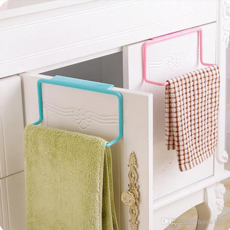 New Creative Cabinet Door Back Hook Towel Rack Bar Hanging Holder Organizer Bathroom Kitchen Cabinet Cupboard Hanger Shelf