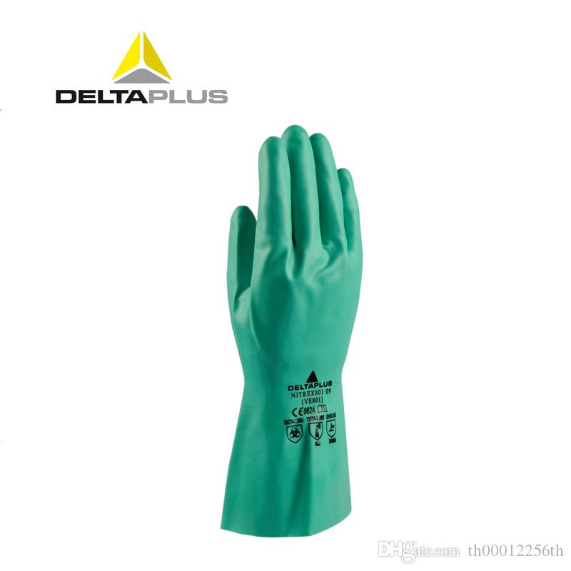 Nitrile Chemical Resistant Work Glove Housework Cleaning Washing Gloves Cotton Lining Food Industry Safety Work Gloves