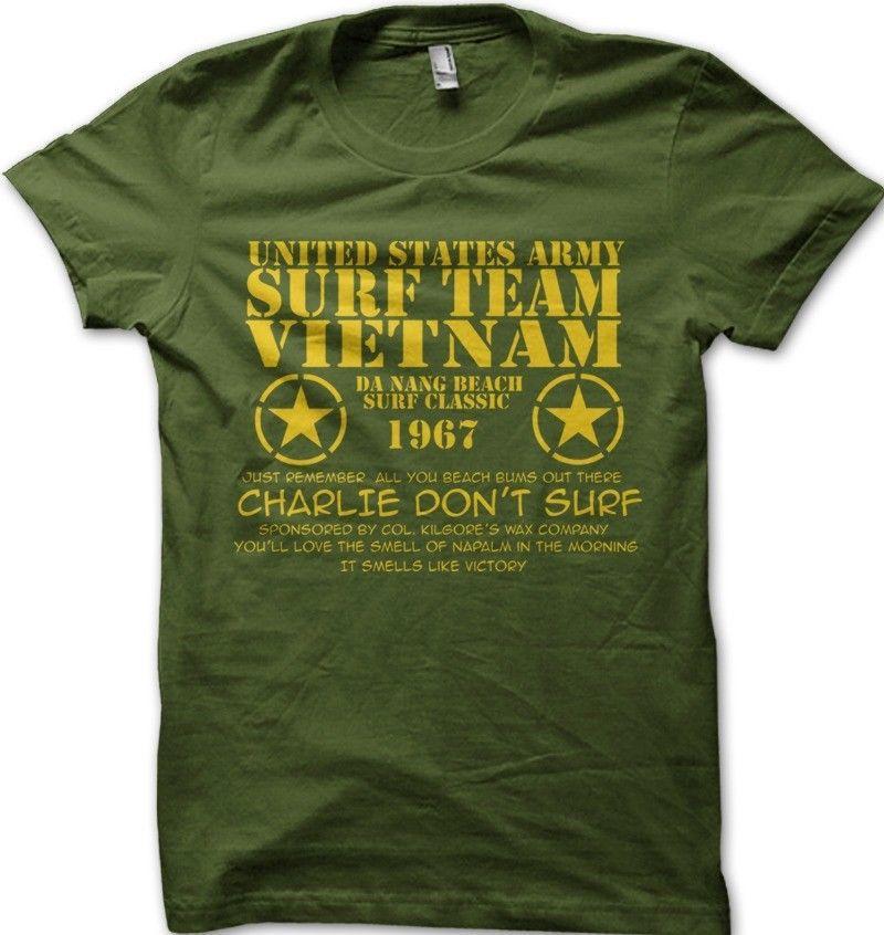 Surf équipe Vietnam I T-Shirt Apocalypse Now DON /'T SURF army USA