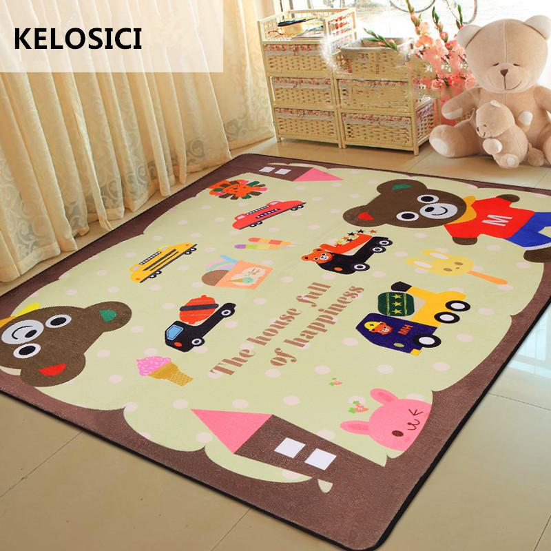Cartoon Children Soft Carpets Kids Room Home Large Area Decor Rugs