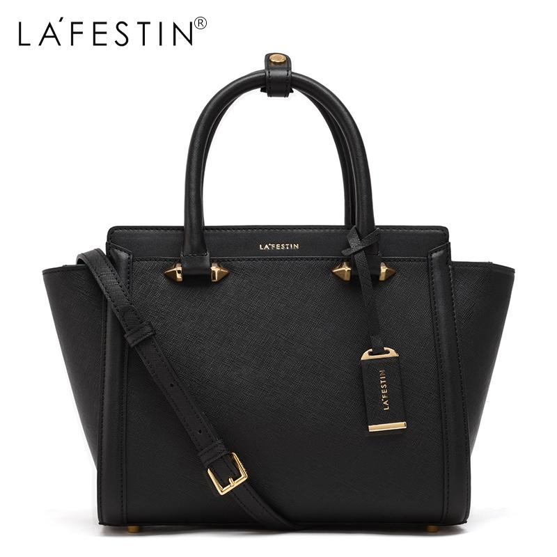 75a857b24756 LAFESTIN Famous Handbags Women Designer Real Leather Bags Trapeze ...