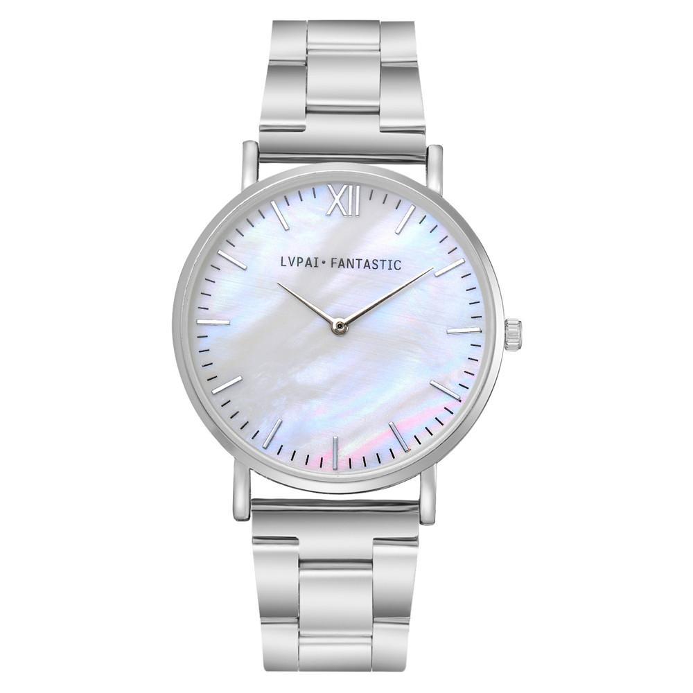 d84c140e279 Compre Lvpai Mulheres Relógios De Aço Inoxidável Marca De Moda Senhoras  Relógio De Pulso Relógio De Quartzo Criativo Retro Simples Barato Relógio  De Luxo De ...