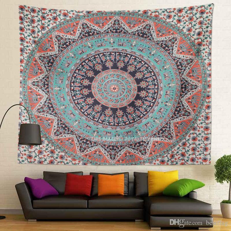 Wholesale Best Factory Price Sublimation Printed Custom Size 130x150cm 400g India Madala Wall Hanging Tapestry for Home Decoration