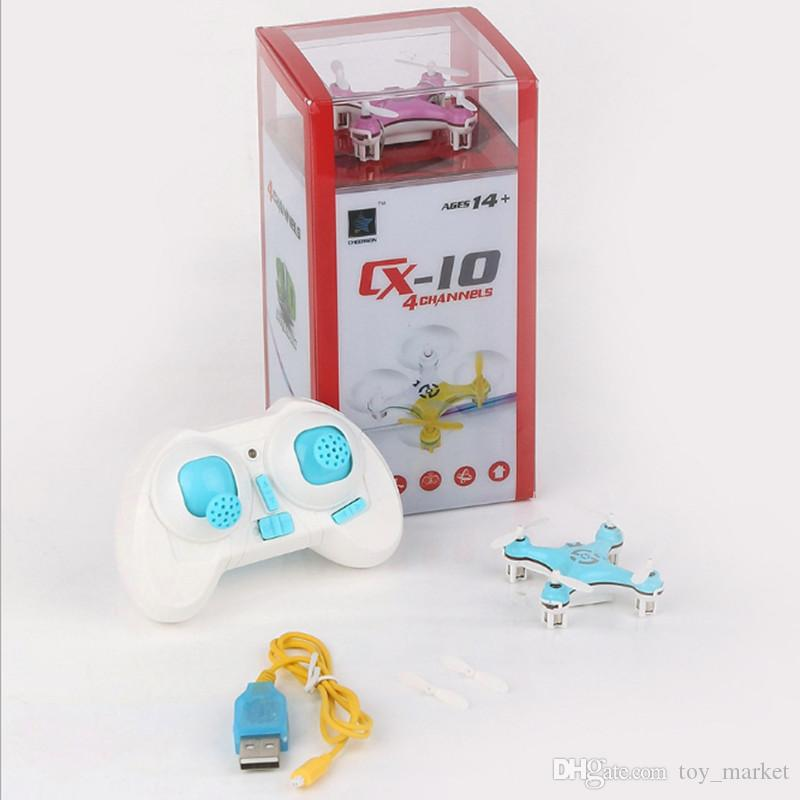 Cheerson CX-10 CX10 2.4G Remote Control Toys 4CH 6Axis RC Quadcopter Mini rc helicopters Radio Control Aircraft RTF Drone dhl 20