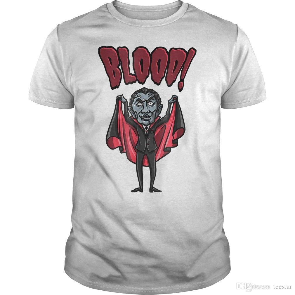 a99a7b92286 Scary Dracula Vampire Halloween T Shirt T Shirt Men Boy Summer Short Sleeve  Cotton Custom Big Size Party T Shirts O Neck Hipster Tshirts Shirts Cool  Crazy ...