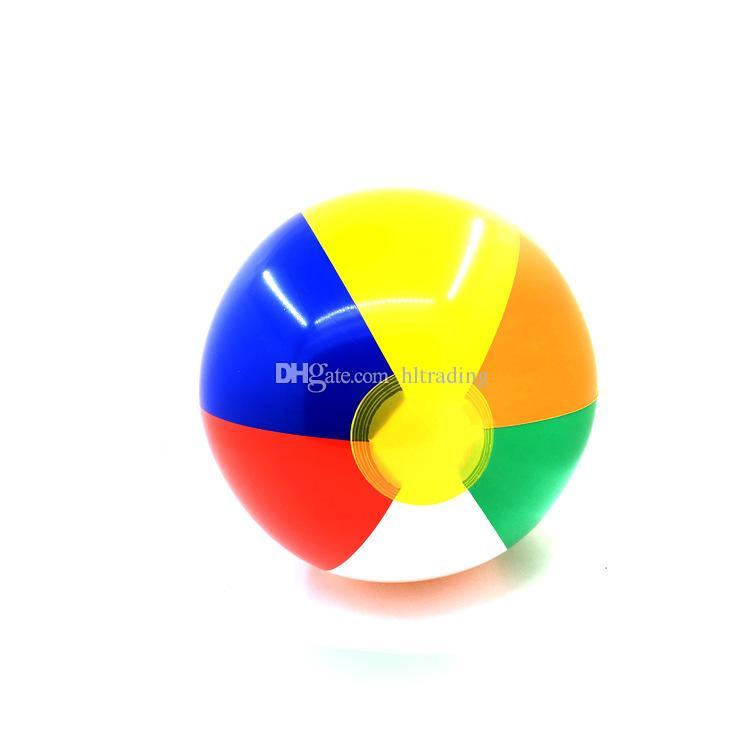 الشاطئ الكرة نفخ 6 ألوان جديدة مخطط قوس قزح الشاطئ الكرة في الهواء الطلق الشاطئ كرة الماء بالون الرياضة للأطفال 23 سنتيمتر C4450