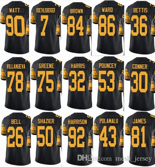 hot sales 0f2e8 39e53 real youth antonio brown color rush jersey 2e94b fc3e0